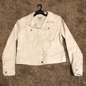 Old Navy Long Sleeve Collared Jean Jacket, Size L
